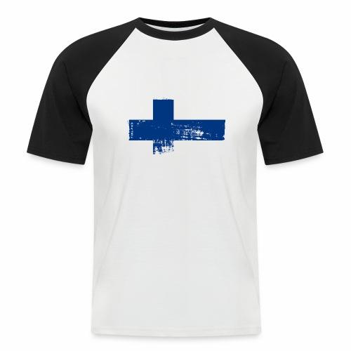 Suomen lippu, Finnish flag T-shirts 151 Products - Miesten lyhythihainen baseballpaita