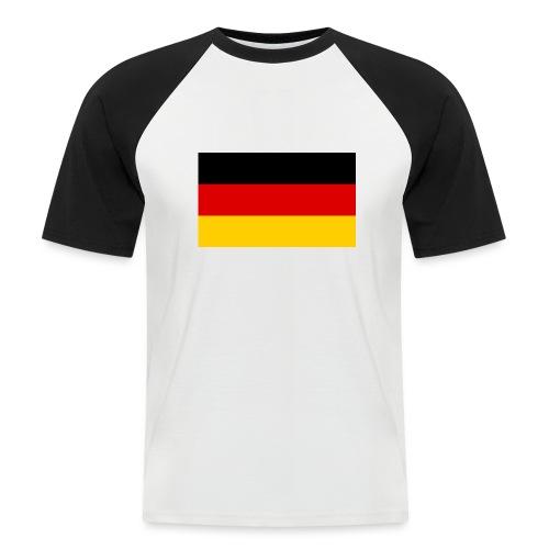 2000px Flag of Germany svg - Männer Baseball-T-Shirt