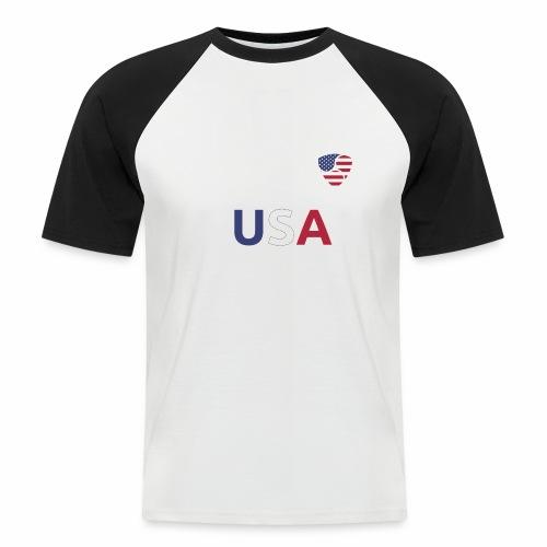 NEM USA white - Maglia da baseball a manica corta da uomo