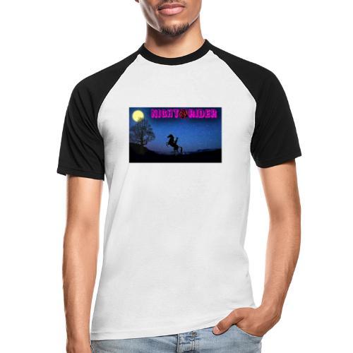 nightrider merch - Kortærmet herre-baseballshirt