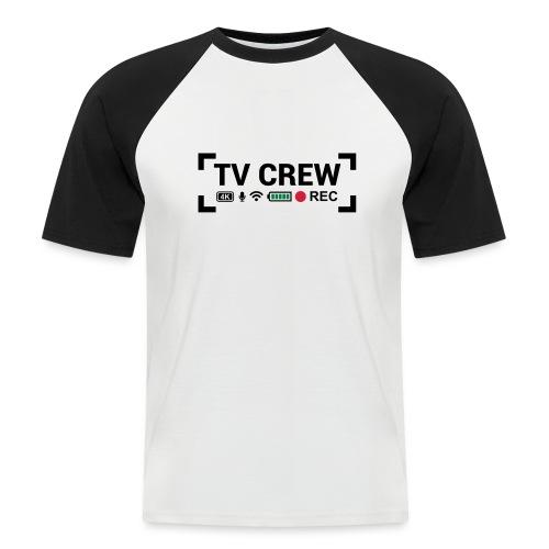 TV Crew - Maglia da baseball a manica corta da uomo