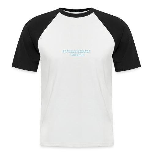 #jatilspinrazaforalle - lysblå - Kortermet baseball skjorte for menn