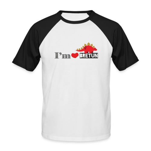 bretun negro - Camiseta béisbol manga corta hombre