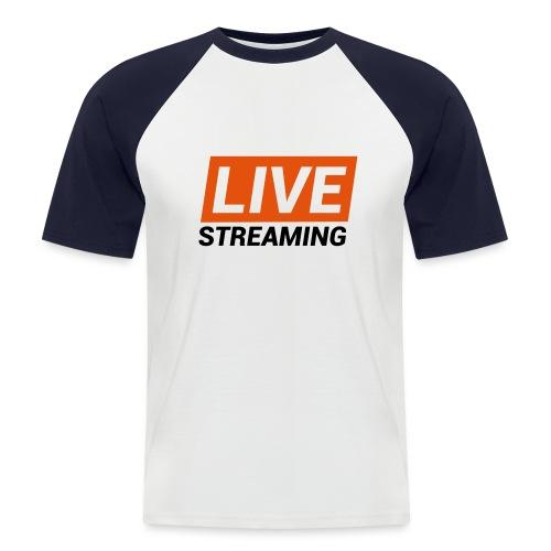 LIVE streaming - Maglia da baseball a manica corta da uomo