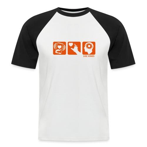'Carrot Shaped Stick' Horizontal Logos - Men's Baseball T-Shirt