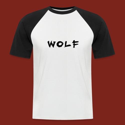 Wolf Font png - Mannen baseballshirt korte mouw