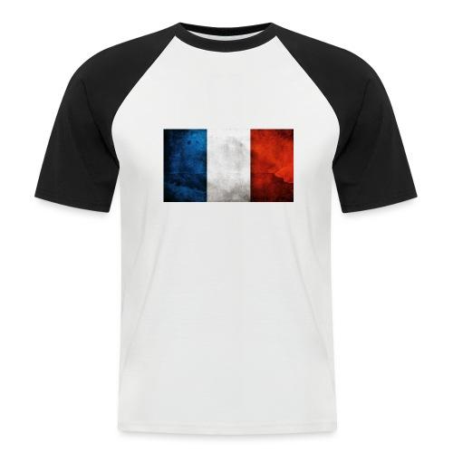 France Flag - Men's Baseball T-Shirt