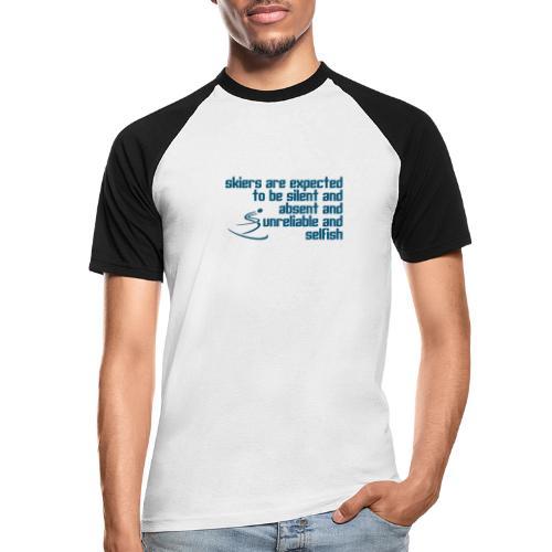 Unreliable Skiers - Men's Baseball T-Shirt