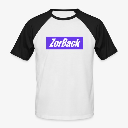ZorBack's purple - T-shirt baseball manches courtes Homme