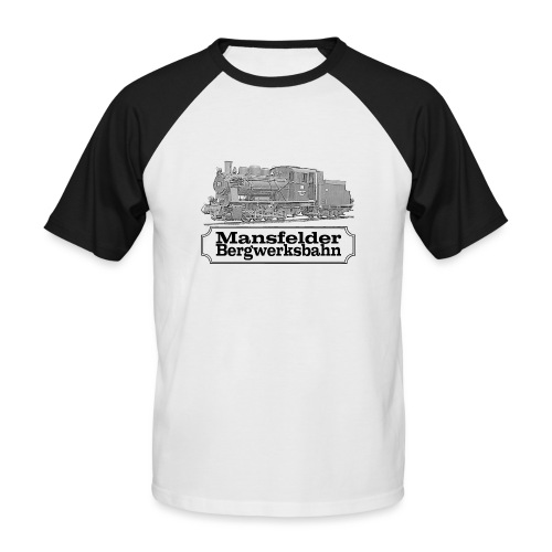 mansfelder bergwerksbahn dampflok 2 - Männer Baseball-T-Shirt
