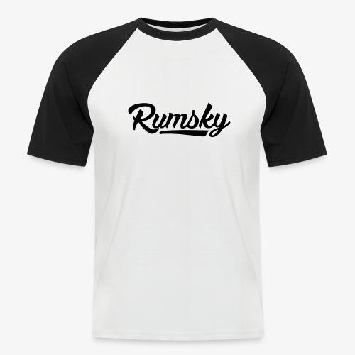 Rumsky-logo - Mannen baseballshirt korte mouw