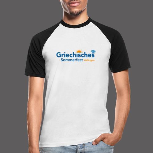 Griechisches Sommerfest Vaihingen - Männer Baseball-T-Shirt
