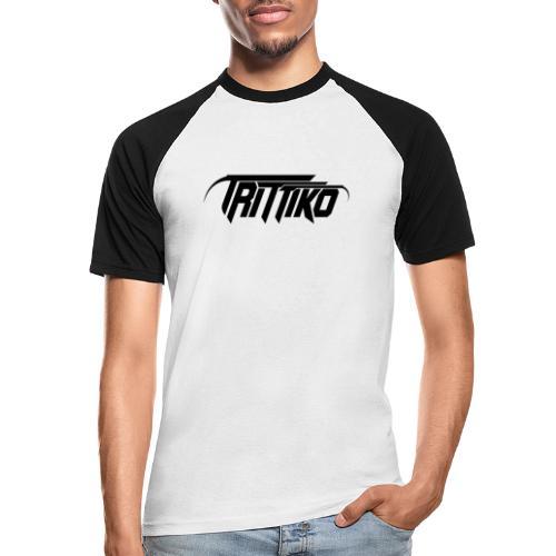 Trittiko Logo Schwarz - Männer Baseball-T-Shirt