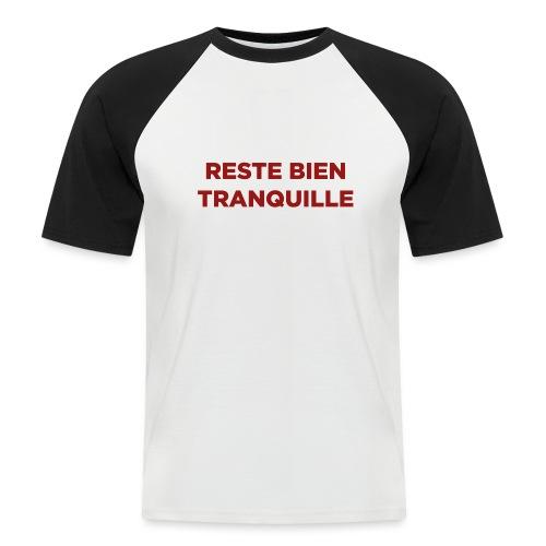 Logo Reste Bien rouge - T-shirt baseball manches courtes Homme