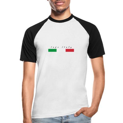 Info Italy Design - Maglia da baseball a manica corta da uomo