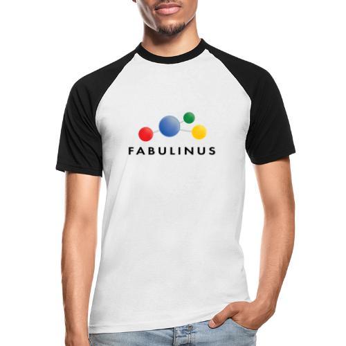 Fabulinus logo dubbelzijdig - Mannen baseballshirt korte mouw