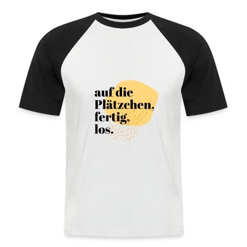 Auf die Plätzchen, fertig, los. Aquarell - Männer Baseball-T-Shirt
