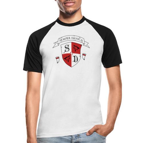 SD logo - hvide lænker - Kortærmet herre-baseballshirt