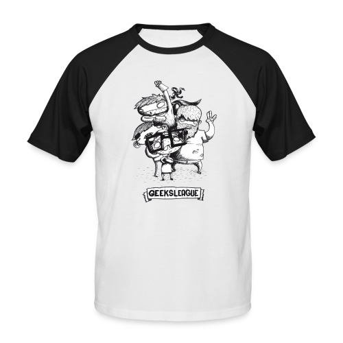Illu Geeksleague - T-shirt baseball manches courtes Homme