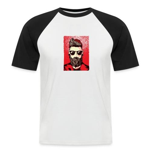 HipsterMan - Männer Baseball-T-Shirt