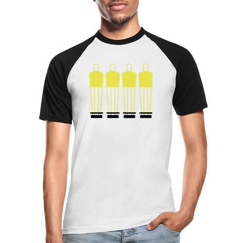 Free Kick Wall - Men's Baseball T-Shirt