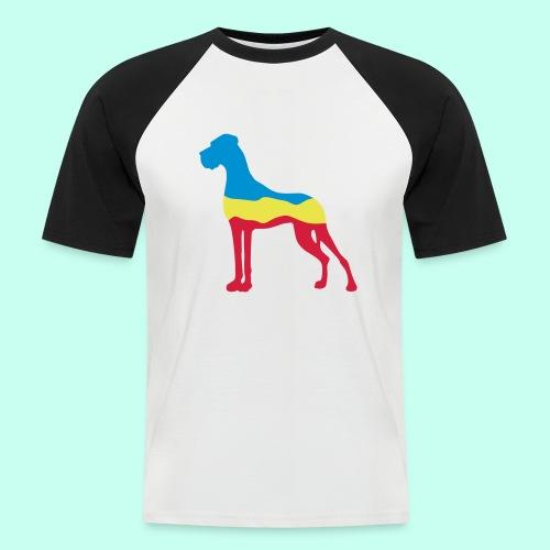 Flaggen Dogge - Männer Baseball-T-Shirt