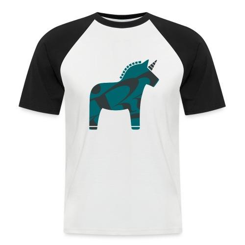 Swedish Unicorn - Männer Baseball-T-Shirt