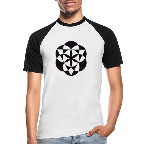 diseño de figuras geométricas - Camiseta béisbol manga corta hombre
