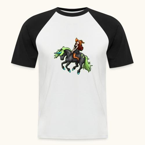 Monter une sorcière sexy sur une licorne. - T-shirt baseball manches courtes Homme