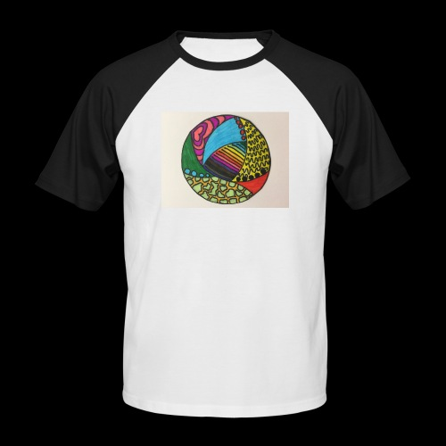 circle corlor - Kortærmet herre-baseballshirt