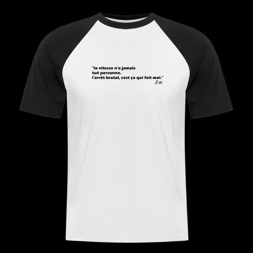 vitesse (noir) - T-shirt baseball manches courtes Homme