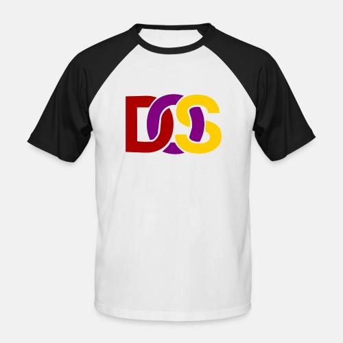 Retro MS DOS Logo - Men's Baseball T-Shirt