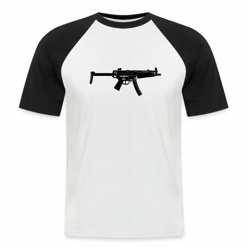 BlackGun - Männer Baseball-T-Shirt