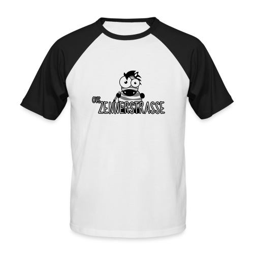 Zebra SW transparent - Männer Baseball-T-Shirt