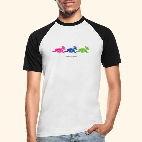 frenchies multicolor - T-shirt baseball manches courtes Homme