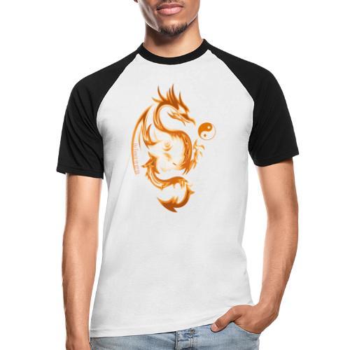 Der Drache spielt mit der Energie des Lebens. - Männer Baseball-T-Shirt