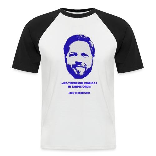 Horntvedt - Kortermet baseball skjorte for menn