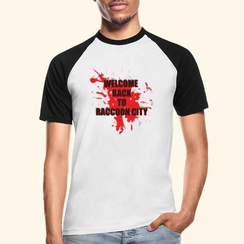 Welcome Back to Raccoon City TEXT 01 - Men's Baseball T-Shirt