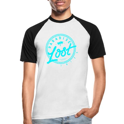 Paradise Lost Ibiza - Acid Blue Logo - Men's Baseball T-Shirt