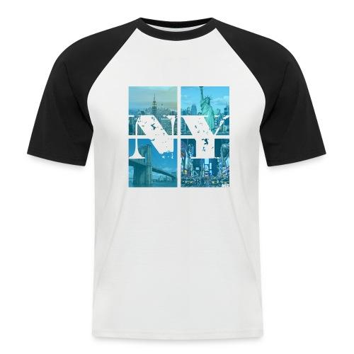 NEW YORK BLUE - Männer Baseball-T-Shirt