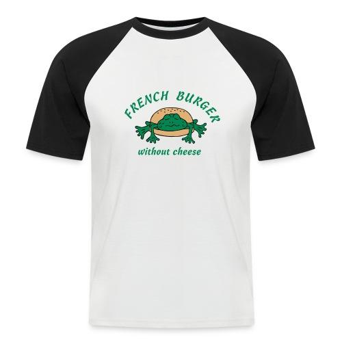 Froschburger French Burger Fastfood Frog ohne Käse - Männer Baseball-T-Shirt