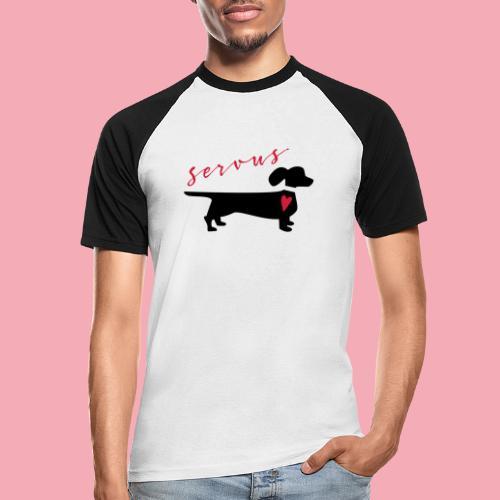 Servus Dackel - Männer Baseball-T-Shirt