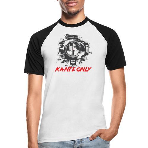 Kante Only (weiß) - Männer Baseball-T-Shirt