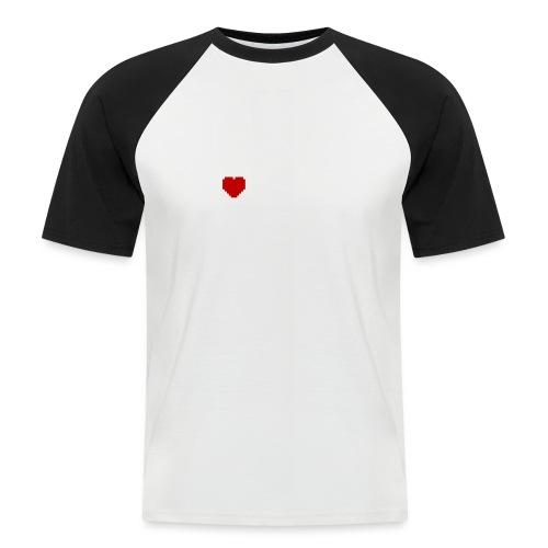 I Love Pixels - Kortærmet herre-baseballshirt