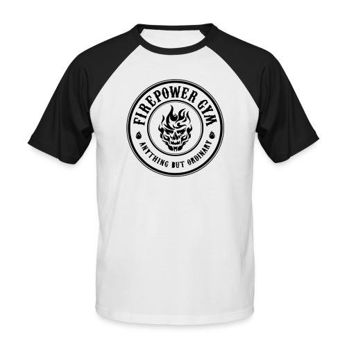 Firepower Gym Logo - Men's Baseball T-Shirt