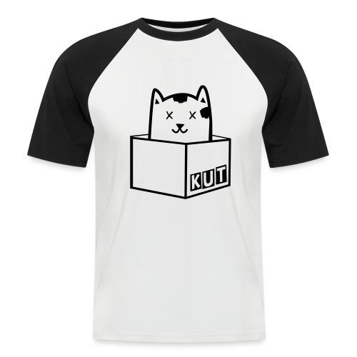 Black Vector Kitten Under Tire Records - Mannen baseballshirt korte mouw