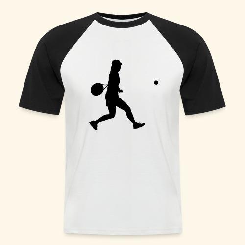 tennis woman 2 - T-shirt baseball manches courtes Homme