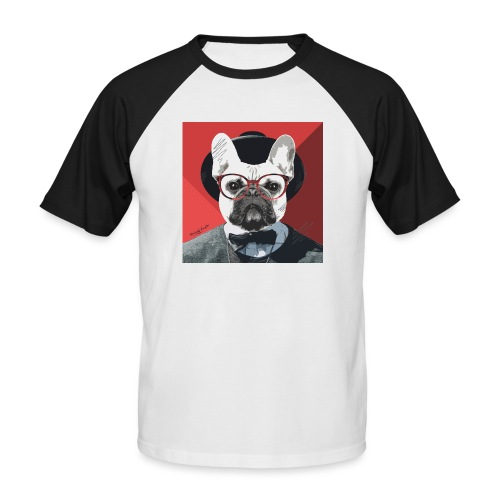 French Bulldog Artwork 2 - Männer Baseball-T-Shirt