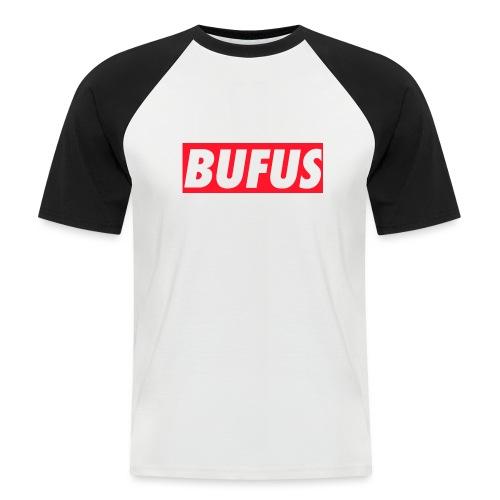 BUFUS - Maglia da baseball a manica corta da uomo