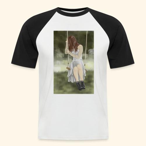 Sad Girl on Swing - Men's Baseball T-Shirt